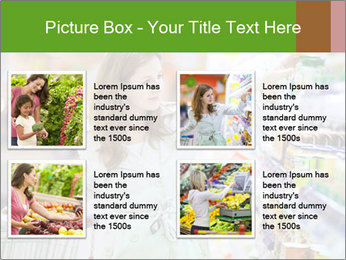 Beautiful young woman shopping PowerPoint Template - Slide 14