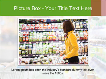 Beautiful young woman shopping PowerPoint Template - Slide 16