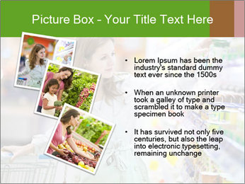 Beautiful young woman shopping PowerPoint Template - Slide 17