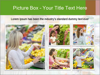 Beautiful young woman shopping PowerPoint Template - Slide 19
