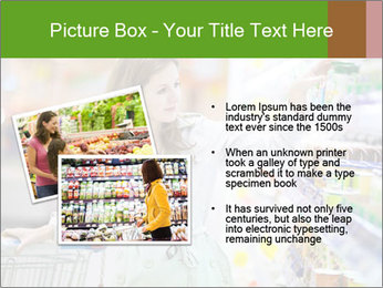 Beautiful young woman shopping PowerPoint Template - Slide 20