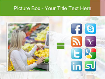 Beautiful young woman shopping PowerPoint Template - Slide 21