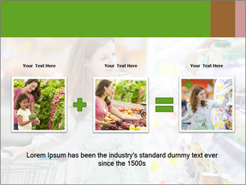Beautiful young woman shopping PowerPoint Template - Slide 22