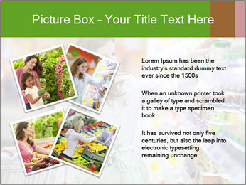 Beautiful young woman shopping PowerPoint Template - Slide 23