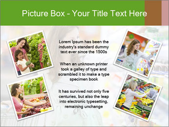 Beautiful young woman shopping PowerPoint Template - Slide 24