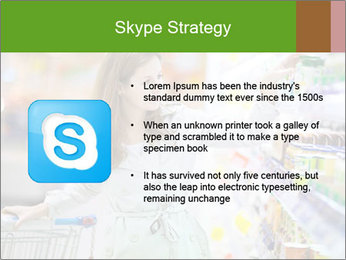 Beautiful young woman shopping PowerPoint Template - Slide 8