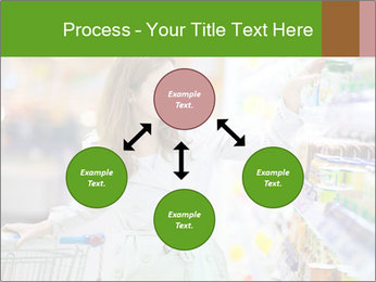 Beautiful young woman shopping PowerPoint Template - Slide 91