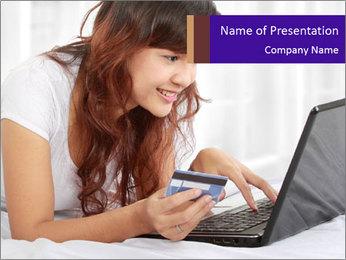 Cute online shopping Modèles des présentations  PowerPoint