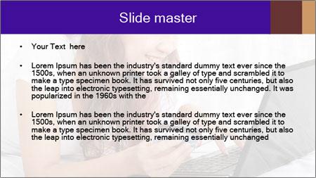 Cute online shopping PowerPoint Template