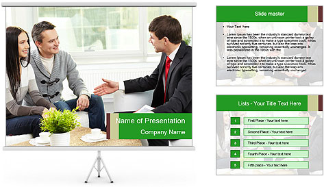 Portrait of modern couple PowerPoint Template