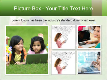Picture of young girls PowerPoint Templates - Slide 19