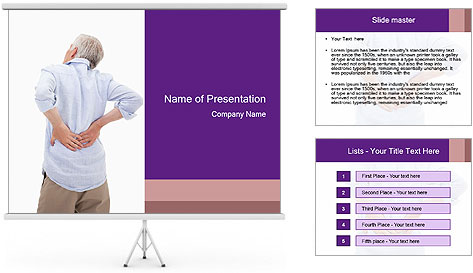 Portrait of a man PowerPoint Template