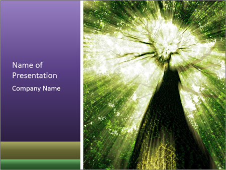 Forest trees PowerPoint Template