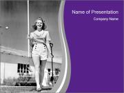 Woman walking PowerPoint Templates
