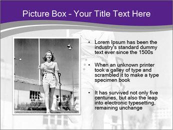 Woman walking PowerPoint Templates - Slide 13