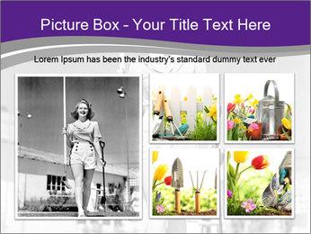 Woman walking PowerPoint Templates - Slide 19