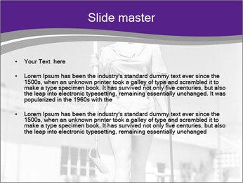 Woman walking PowerPoint Templates - Slide 2
