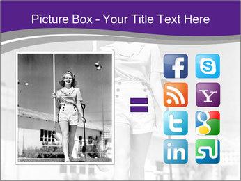 Woman walking PowerPoint Templates - Slide 21