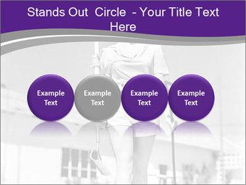 Woman walking PowerPoint Templates - Slide 76