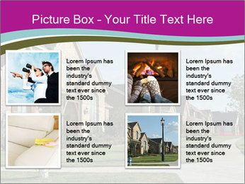Houses with beautiful lawns PowerPoint Templates - Slide 14