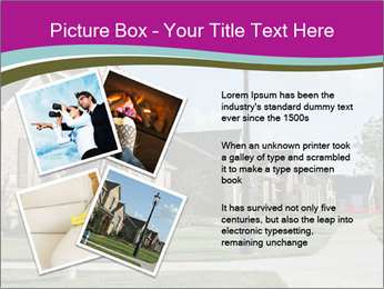 Houses with beautiful lawns PowerPoint Templates - Slide 23