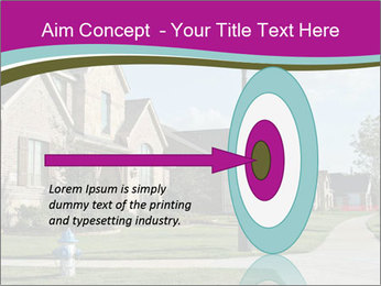 Houses with beautiful lawns PowerPoint Templates - Slide 83
