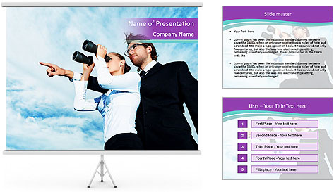 A look into the future PowerPoint Template