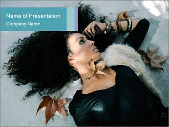 Attractive girl PowerPoint Template - Slide 1