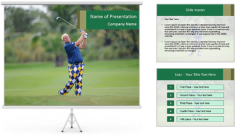 Thailand Golf Championship PowerPoint Template