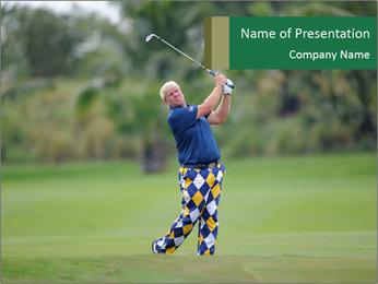 Thailand Golf Championship PowerPoint Templates - Slide 1