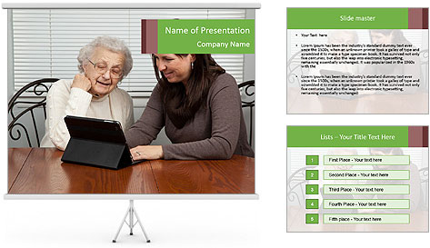 Young Woman Teaching PowerPoint Template