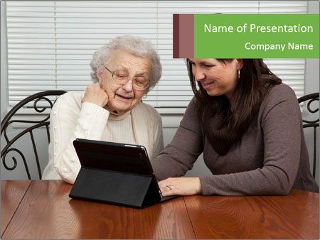 Young Woman Teaching PowerPoint Templates