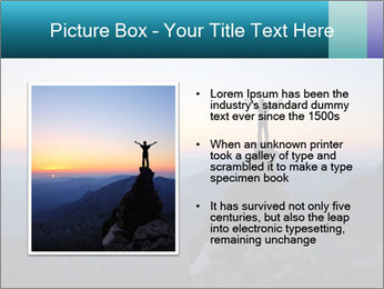 Man on top of the mountain PowerPoint Template - Slide 13