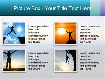 Man on top of the mountain PowerPoint Template - Slide 14