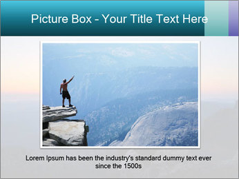 Man on top of the mountain PowerPoint Template - Slide 15