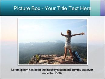 Man on top of the mountain PowerPoint Template - Slide 16