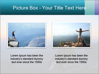 Man on top of the mountain PowerPoint Template - Slide 18