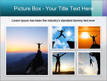 Man on top of the mountain PowerPoint Template - Slide 19