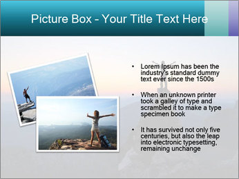 Man on top of the mountain PowerPoint Template - Slide 20