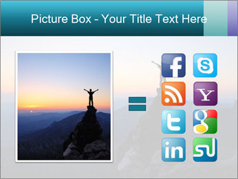 Man on top of the mountain PowerPoint Template - Slide 21