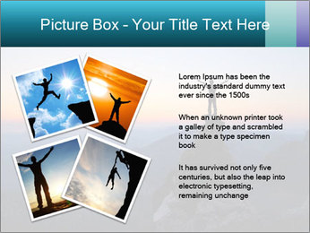 Man on top of the mountain PowerPoint Template - Slide 23