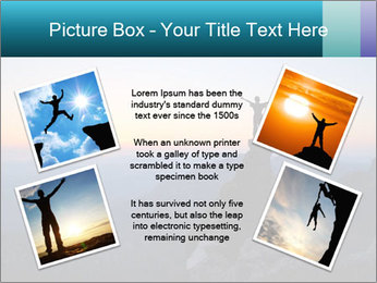 Man on top of the mountain PowerPoint Template - Slide 24