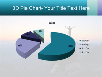 Man on top of the mountain PowerPoint Template - Slide 35