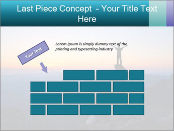 Man on top of the mountain PowerPoint Template - Slide 46