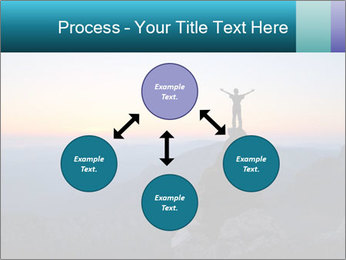Man on top of the mountain PowerPoint Template - Slide 91