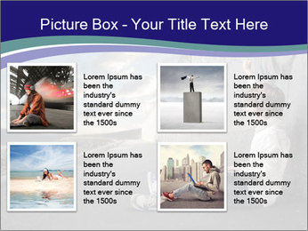 Triumphing child sitting PowerPoint Template - Slide 14