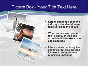 Triumphing child sitting PowerPoint Template - Slide 17