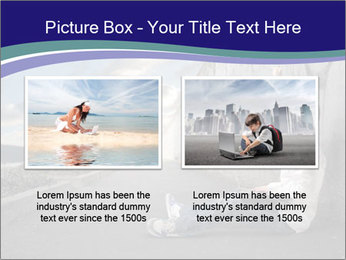 Triumphing child sitting PowerPoint Template - Slide 18