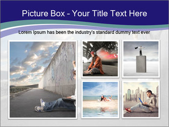 Triumphing child sitting PowerPoint Template - Slide 19