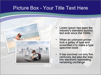 Triumphing child sitting PowerPoint Template - Slide 20